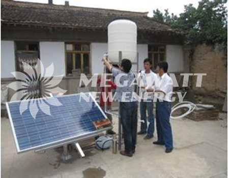 Solar powered water purification system project - Solar powered