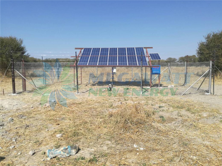 3.7Kw solar water supply for livestock in Bostwana